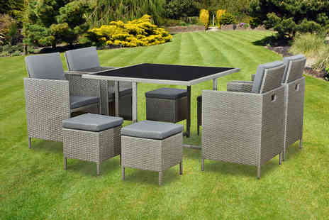 Direct Sourcing - Nine piece rattan cube furniture set - Save 0%