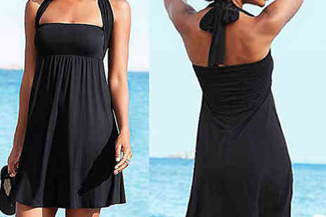 My Blu Fish - Wrap Neck Beach Dress Choose 4 Colours and 4 Sizes - Save 50%