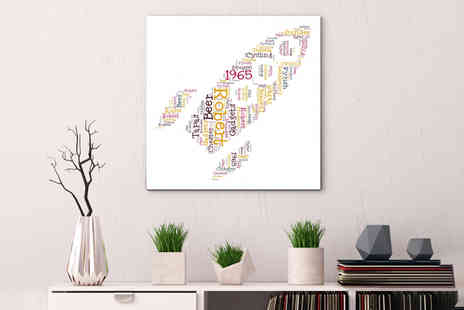 Colour House Print - 12 Inch x 12 Inch personalised word art canvas - Save 0%