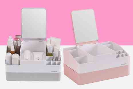Shanghai Zhengxiang QicheZuling - Desktop makeup and cosmetic organiser with mirror - Save 33%