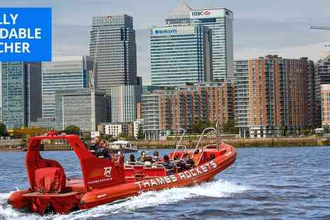 Thames Rockets - High speed Thames speedboat tour - Save 34%