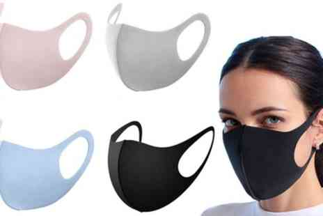 Groupon Goods Global GmbH - Five or Ten Reusable Face Masks - Save 0%