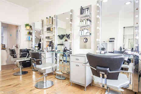 City Hairdressers - Half head of highlights with a cut and blow dry - Save 72%