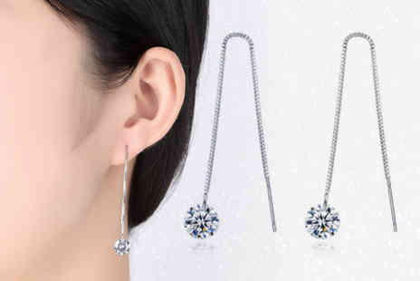 Styled By - Pair of crystal thread earrings - Save 72%