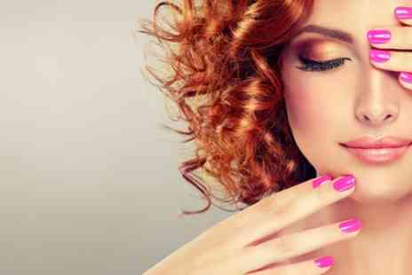 DJs Groom Room & Sandra Mays Hair Studio - Manicure or pedicure with gel polish - Save 40%