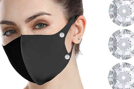 Taylors Jewellery - 2, 4 or 6 Reusable Swarovski Crystal Studded Face Masks - Save 0%