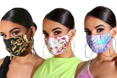 Groupon Goods Global GmbH - Thee or Six Reusable Face Masks - Save 0%