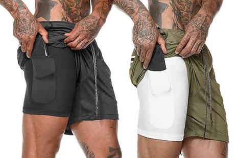 Domo Secret - Pair of mens running shorts - Save 50%