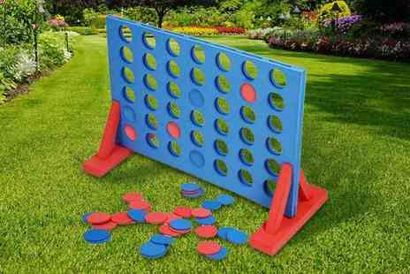 Direct2Public - Giant outdoor foam connect 4 game - Save 50%
