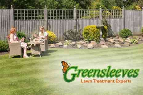 Greensleeves Lawn Care - Up to 400 SqM of Lawn Treatment with Weed Control - Save 60%