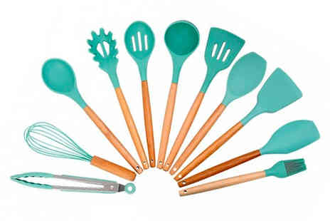 Wish Imports - 11 piece silicone kitchenware set - Save 67%
