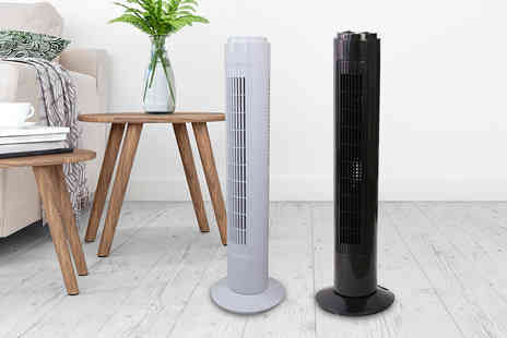 Direct Sourcing - Three speed oscillating tower fan - Save 0%