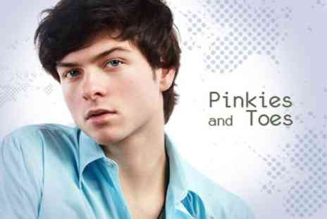 Pinkies and Toes - Mens Open Razor Shave, Indian Head Massage, Exfoliating Facial Plus Brow Wax and Define - Save 62%