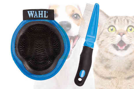 WAHL - Pet grooming comb and pet grooming glove - Save 0%