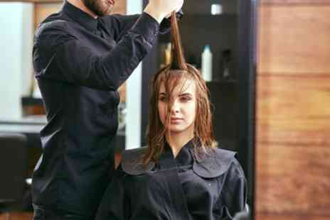 The Hairdressing Station - Wash, Cut and Blow Dry with Optional Half Head of Highlights - Save 38%
