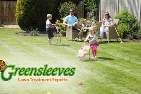 Greensleeves Lawn Care - 400 Sq. Metres of Lawn Treatment with Weed Control - Save 60%