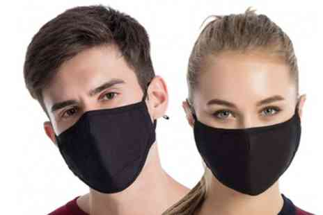 Groupon Goods Global GmbH - 4 Cotton Face Masks with up to 40 Filters - Save 0%