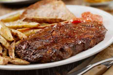 Al Basha - Rib Eye Steak Meal with French Fries and Bottle of Wine - Save 61%