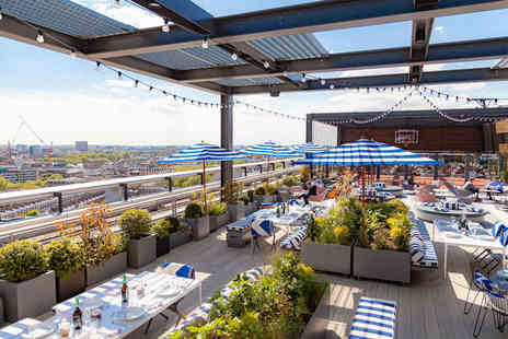 Skylark Roof Garden - Pizza to share and a pink gin fizz each for two - Save 49%