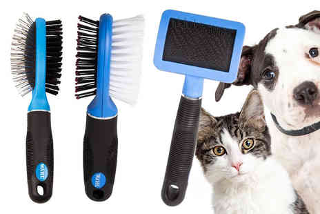 WAHL - Double sided soft pet grooming brush - Save 30%