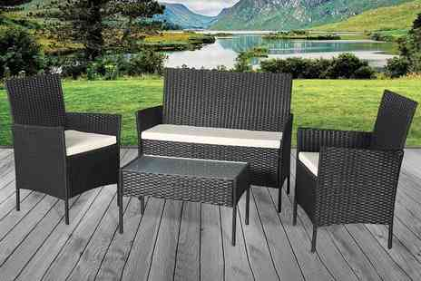 Direct Sourcing - Four piece rattan garden furniture set - Save 0%