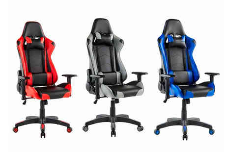 UK Furniture Zone - Aston PVC gaming chair - Save 64%