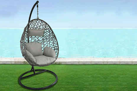 Hirix - Polyrattan hanging egg chair - Save 50%
