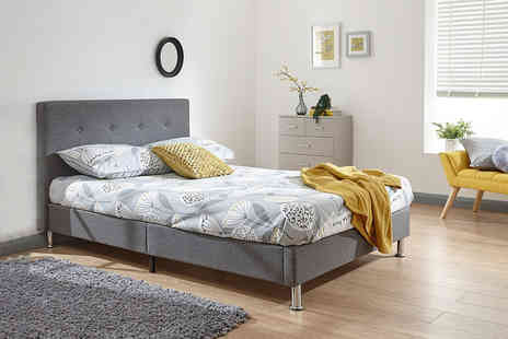 Envisage Home - Contemporary Modena double fabric bed frame - Save 38%