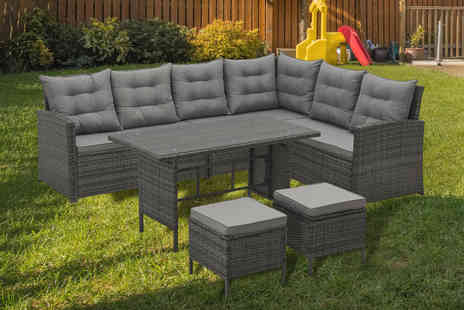 Esenti - Eight seater polyrattan garden furniture set - Save 0%
