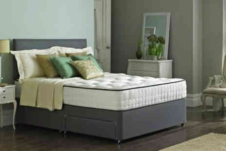 Dining Tables - Grey cotton divan bed base and headboard - Save 82%