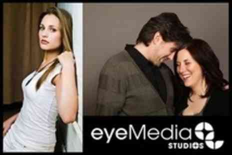 Eyemedia Studios - Makeover Photo Shoot For One or Two With Three Prints - Save 87%