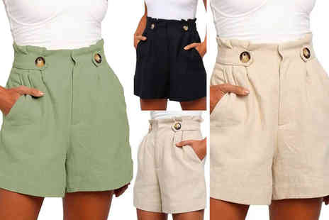 Domo Secret - Womens casual poplin shorts - Save 70%