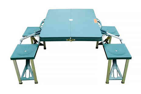 Mhstar - Green outdoor foldable picnic table set - Save 49%