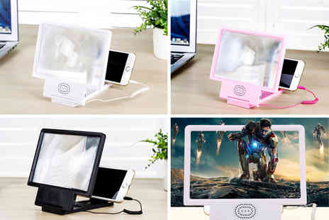 Hey4Beauty - Smartphone dock with screen magnifier and speaker - Save 40%