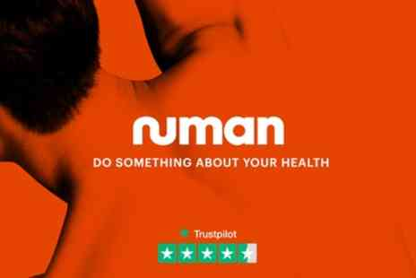 Numan - 60% Discount the First Order of All Mens Health Products - Save 0%