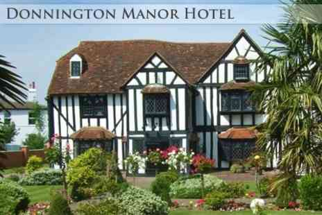 Donnington Manor Hotel - Overnight Break For Two With Dinner, Breakfast and Mini Afternoon Tea for £99 (Up to £210.80 Value) - Save 53%