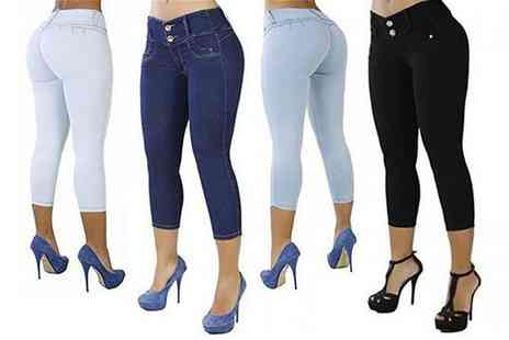 Wish Imports - Womens tight fitting summer jeans - Save 78%