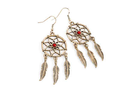 Gemnations - Pair of dream catcher earrings - Save 0%