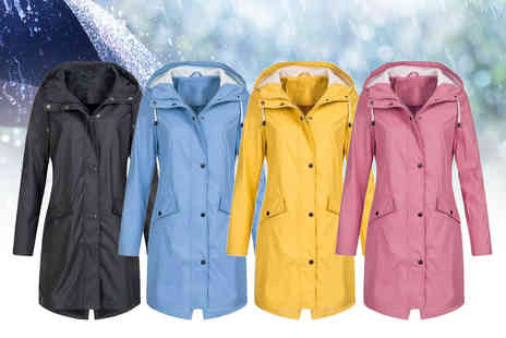 MBLogic - Womens hooded waterproof raincoat - Save 70%