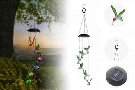 YelloGoods - Light up hummingbird wind chime - Save 60%