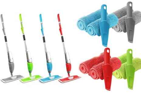 Groupon Goods Global GmbH - Spray Mop with Two Microfibre Pads and Scraper - Save 0%