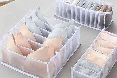 Wish Whoosh Offers - 3 Pack of Mesh Underwear Drawer Organisers - Save 57%
