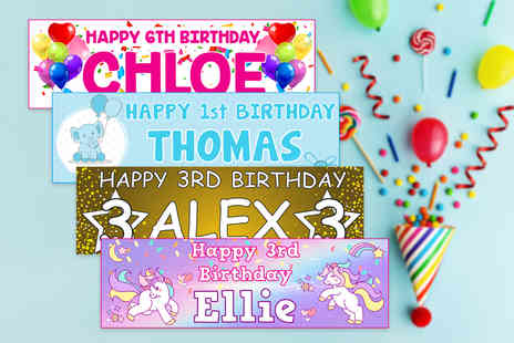 DecoMatters - One giant personalised birthday banner - Save 70%