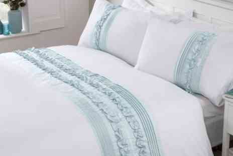 Groupon Goods Global GmbH - Rapport Home Easy Care Embroidered Duvet Set - Save 0%