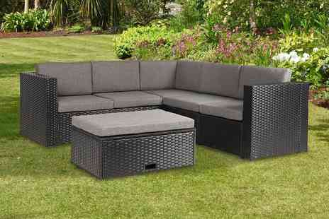 Absolute Rattan - Carfin black polyrattan garden furniture set - Save 0%