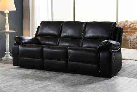Furniture Instore - Three seater leather sofa - Save 0%