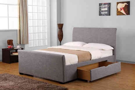 NCF Furnishings - Double Phoenix bedframe with two drawers - Save 0%