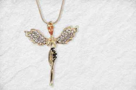 Your Ideal Gift - Guardian angel necklace made with crystals - Save 0%