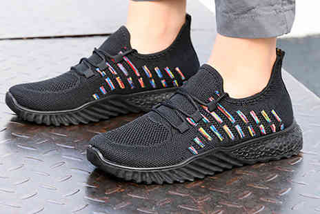 YelloGoods - Pair of womens woven trainers - Save 63%