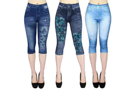 YelloGoods - Pair of womens printed jeggings - Save 73%